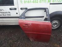 2007 Vauxhall vectra driversside rear door in pomegranate red