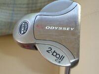 Odyssey White steel 2 ball putter,Center shaft,35 inch.