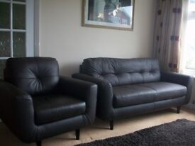 100% leather sofa and chair