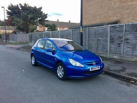 BARGAIN! Peugeot 307 1.6, Blue, FSH, MOT, Excellent Condition - £695