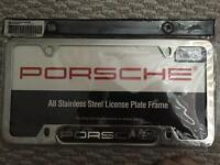 PORSCHE STAINLESS LICENSE COVER LOOK