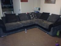 Large 4 seater fabric corner couch