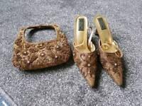 Indian shoes and matching handbag