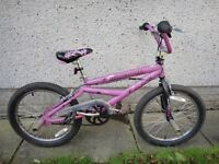 Mongoose freestyle pink girls BMX bike with gyro brakes and pegs, 20 inch wheels possibly deliver