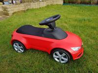 Audi mini quatro ride on kid's car.