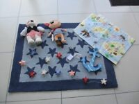 PIRATE THEMED CHILDREN'S BEDROOM ACCESSORIES COMPLETE WITH RUG