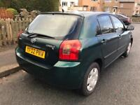 TOYOTA COROLLA 1.4 T2 2002 GREEN 5 DOOR