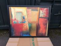 ABSTRACT IKEA FRAMED PAINTING