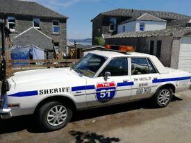 American Classic 1981 Petrol Dodge Sheriffs Car with 1 years MOT, 3.7l slant 6 engine