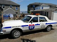 American Classic 1981 Petrol Dodge Sheriffs Car with 1 years MOT, 3.7l slant 6 engine