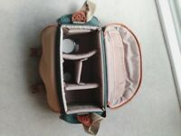 Camera case approx 16 x 8 ins Padded strap 4 inner compartments 2 side and 1 front pocket VGC