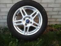 """Ford Fiesta 15"""" alloy wheel and tyre"""