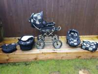 Babystyle prestige matching 3 in one pram/car seat/buggy, cosy toes etc..