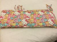 Cot bumper Hello Kitty design