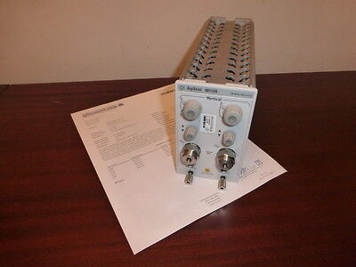 Agilent 86112A 20 GHz Dual Channel Electrical Module - CALIBRATED!  86100A/B/C/D