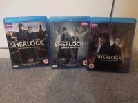 Sherlock Blu-Ray Complete Series 1, 2 & 3