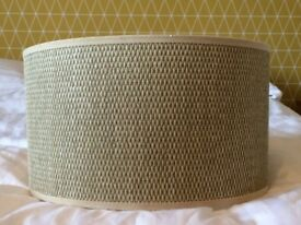 MODERN NEUTRAL COLOURED CEILING SHADE WITH 2 TABLE SHADES