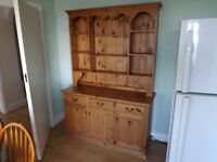 Pine Welsh Dresser 3 drawers 3 cupboards and loads of space to display