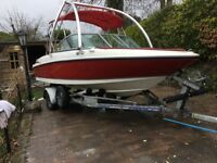 Maxim 1800mx bow rider speed boat with bimmi top and monster ski tower