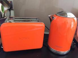 Orange Kmix Kettle & Toaster