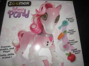 Zoomer Show Pony Interactive Toy with Light. Fun Game. Play Feed, Groom Train. Perform Tricks, Dance, Sing. Hairbrush
