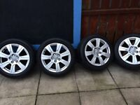 "4 17"" Audi alloys and good tyres."