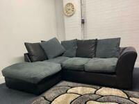Pending Grey & Black corner sofa delivery 🚚 sofa suite couch furniture