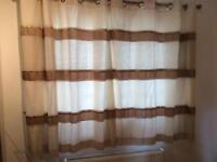 Next cream gold and brown curtains