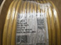 Yellow arctic grade cable 100m x 9 £40 each