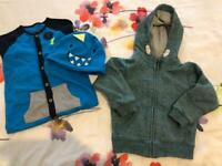 Baby boys bundle new baby grow +hooded zip up jacket 12-18 months 1-1/2 - 2 years £4.50