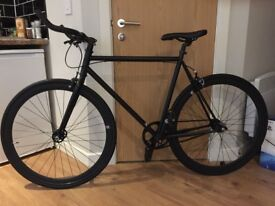 Handsome, Fixie, Fixed Gear, Single Speed Black Bicycle, NO LOGO