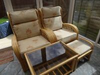 Conservatory Chairs, Table & Footstool - excellent condition - £100 ono - Collection only