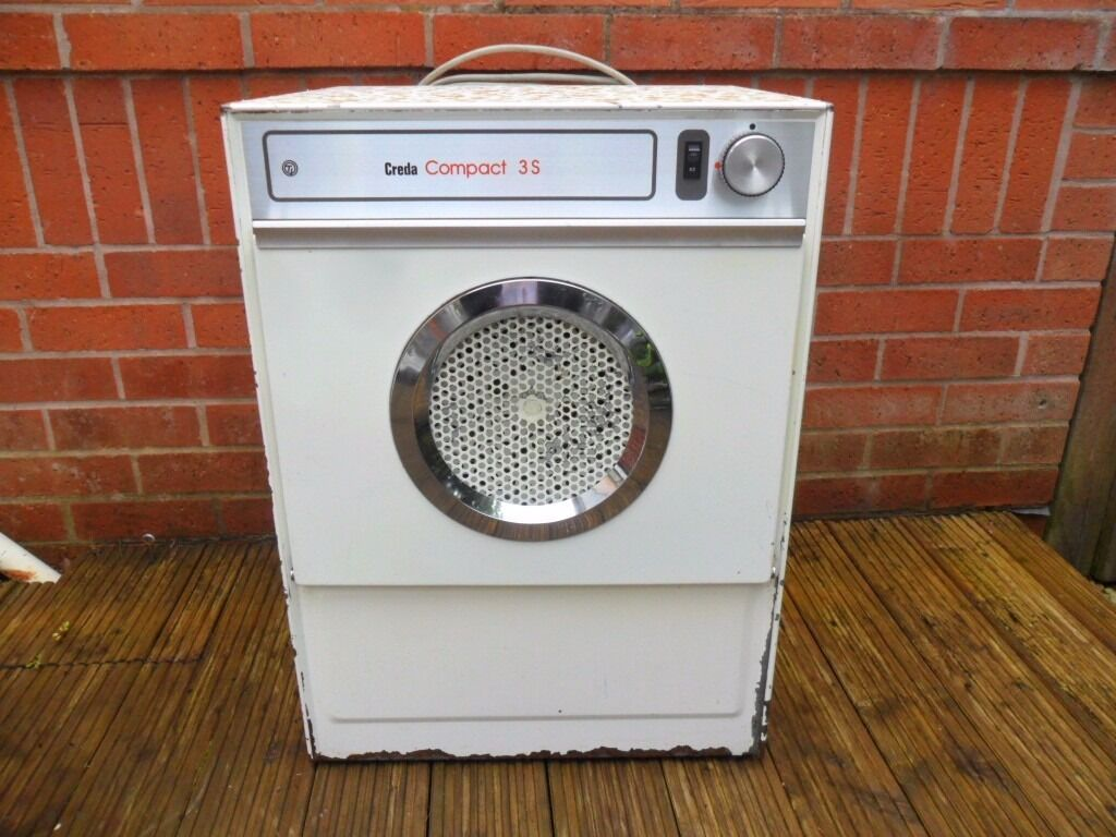 tumble dryer creda compact small dryer old with scratches. Black Bedroom Furniture Sets. Home Design Ideas