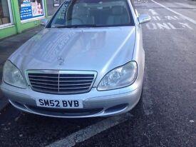 Mercedes s class 320 12 month MOT