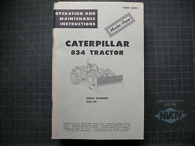 Cat Caterpillar 834 Compactor Operation Operator Guide Manual Roller Maintenance