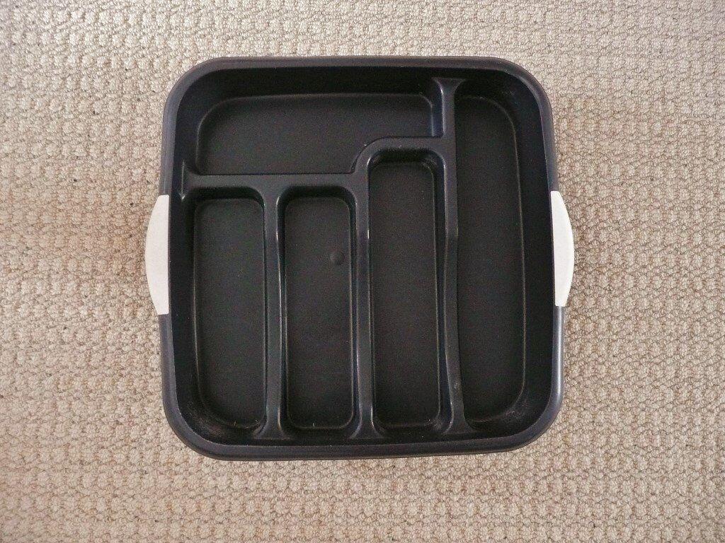 Matalan black speckle plastic cutlery tray kitchen drawer matalan black speckle plastic cutlery tray kitchen drawer organiser tidy storage rack falaconquin