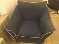 Free Dark blue very comfortable arm chair