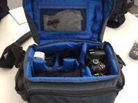 Nikon D3200 digital camera kit with bag.