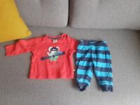 Frugi Organic Baby top and trousers set, 3 - 6 months, in excellent condition