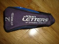 JOHN LETTERS T-SERIES No2 HYBRID GOLF CLUB HEADCOVER