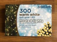 BRAND NEW EVEREADY 300 WARM WHITE SOFT GLOW LED FROSTED LIGHTS