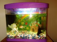 2 Fish and full tank set up worth 80 pounds. Please read for full details