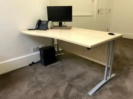 Office Clearance Sale! Beech Wood Office Desk Fantastic Condition! Must Go!