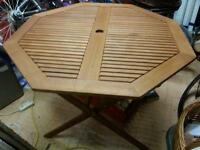 austin folding table and 2 carver chairs