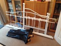 Metal White Day Bed excellent condition - just a few months old