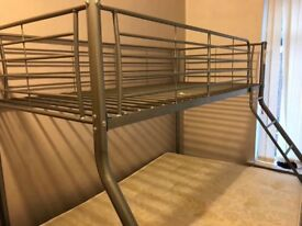 Bunk Bed: Double Bottom, Single Top