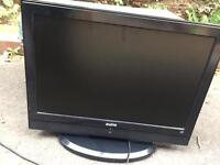 Sanyo 32 inch tv with remote control and free view etc