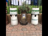 PAIR OF MATCHING CHIMNEY POTS
