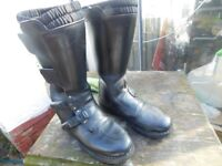 LEATHER BIKER BOOTS GOOD QUALITY SIZE 10 / 11