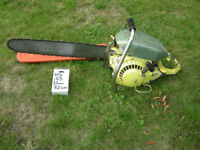 VINTAGE PIONEER 650 DIRECT DRIVE CHAINSAW + SPARES STIHL/HUSQVARNA COVER OREGON CANADIAN
